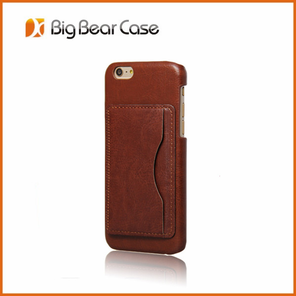 Leather Convenience Card Keeper Cell phone case for iphone 6