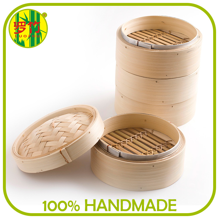Aluminum Steamer Ring/Rim Natural Bamboo Steamer 4 Pouce on Sale