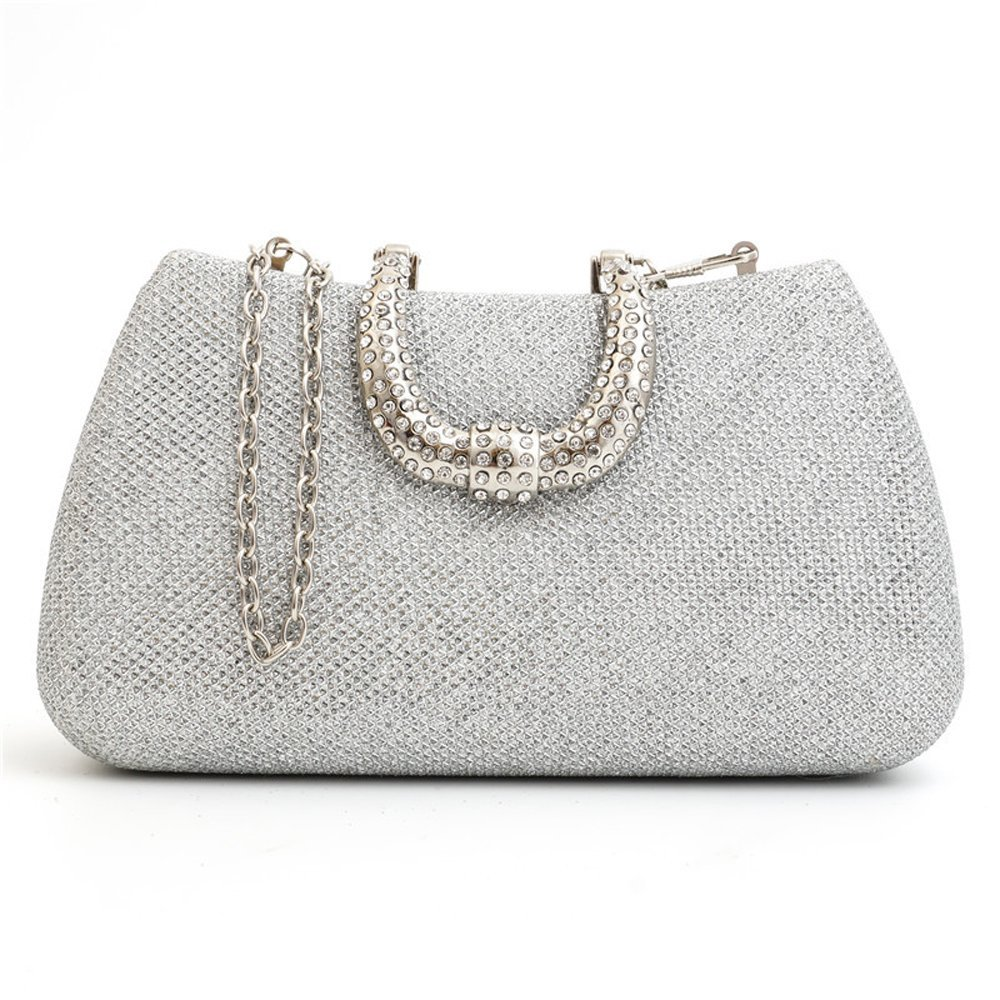 bde525d9f0 Get Quotations · Crystal U Rhinestone Hard Case Diamond Clutch Party  Wedding Clutch Bags Glitter Evening Bags Purse Handbag