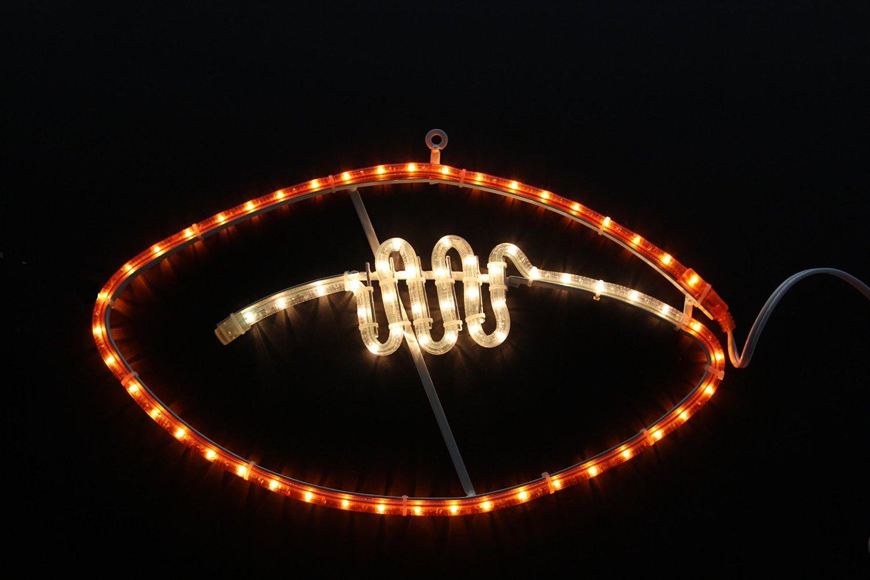 "19"" LED Rope Light Football Motif Window Silhouette Decoration"