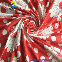100% cotton slub printed fabric for t-shirt