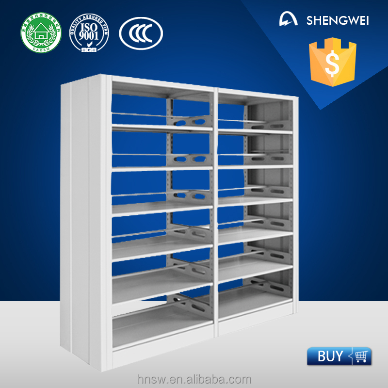 China manufacturer online sell used library aluminium book shelving