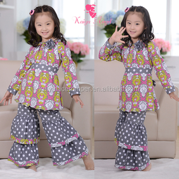 fall boutique remakes children clothing sets kids winter ruffle raglan gown christmas boutique outfits kids