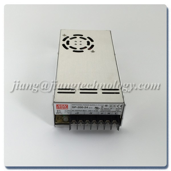 PFC Function Enclosed 201.6W 24V 8.4A SP-200-24 Meanwell AC-DC Single Output SP-200 MEAN WELL Switching Power Supply