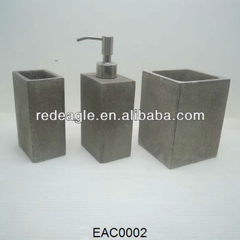 High Density Cement Bathroom Accessories Toothbrush Holder