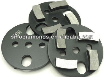 3 inches/75mm metal bond diamante almofadas de polimento de piso máquina de moer