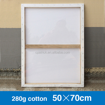 50x70cm Paulownia Wood Frame Blank Painting Cotton Canvas - Buy ...