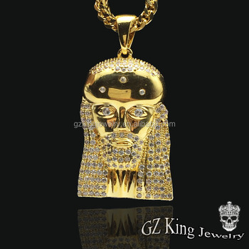 Hip hop 18k gold men micro pave aaa cz stone jesus piece pendant hip hop 18k gold men micro pave aaa cz stone jesus piece pendant charms mozeypictures Images