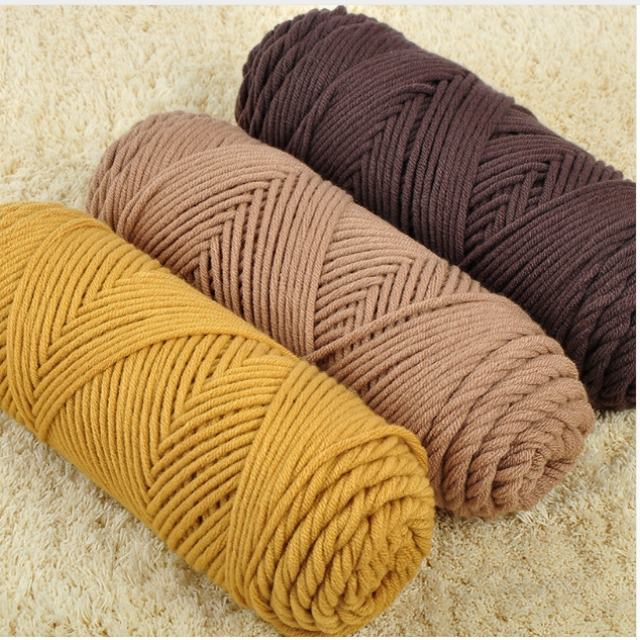 Free Samples Various Colors Soft Worsted Knitting Baby Yarn Thick Milk Cotton Yarns with 8ply