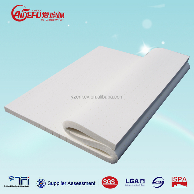 natural rubber latex foam king size mattress with customized service