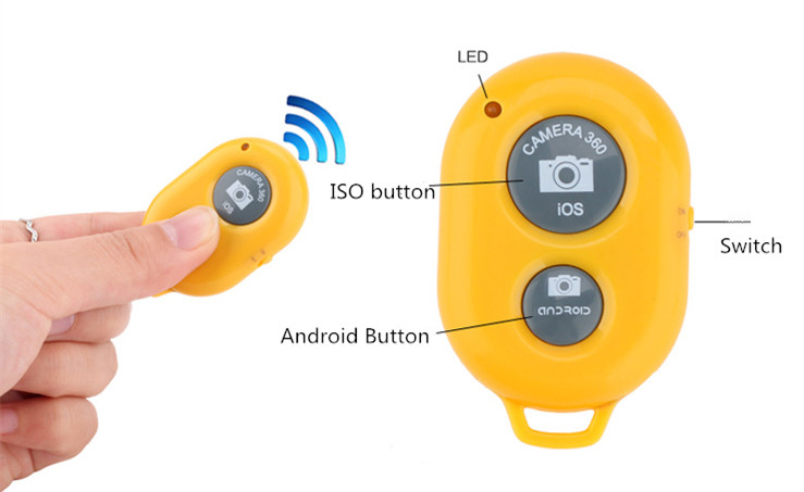bluetooth Selfie remote control 5 colour available