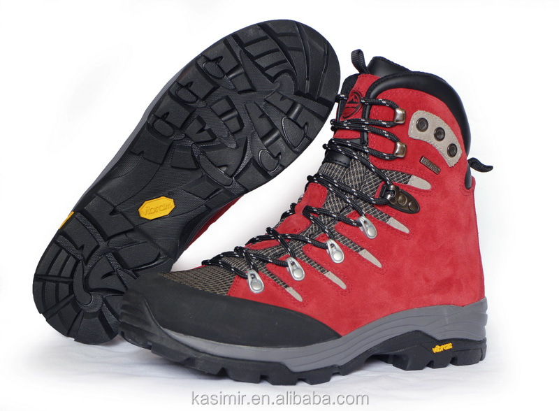 Great new design red leather backpacking travel boots, outdoor boots for men