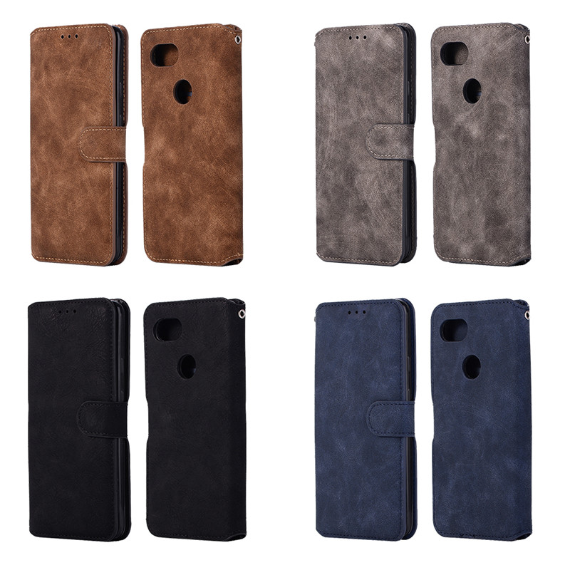 For Coque Google Pixel 2 XL Phone Case Cover Retro Card Slot Flip Wallet Leather Covers For Funda Google Pixel 2XL 6.0 Cases