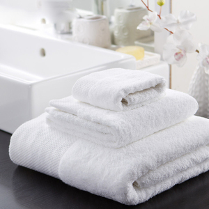 Best selling white dobby baumwolle cotton towel/ terry face towel