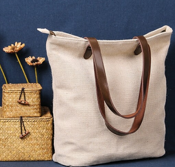 Top Quality Custom Jute Tote Gift Bag Leather Handles Product On Alibaba