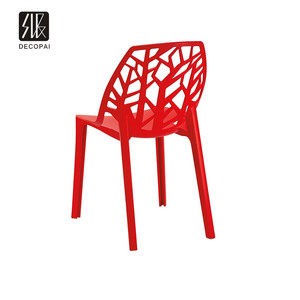 plastic shell PP seat hollow out tree back modern design famous side chair for dining restaurant cafe