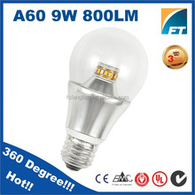 ce rohs 6000K cct 360 degree dimmable adapter E26 to E27 8w 9W LED lights bulb