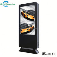 Stand alone CE ROSH IP65 high brightness outdoor information touchscreen display waterproof