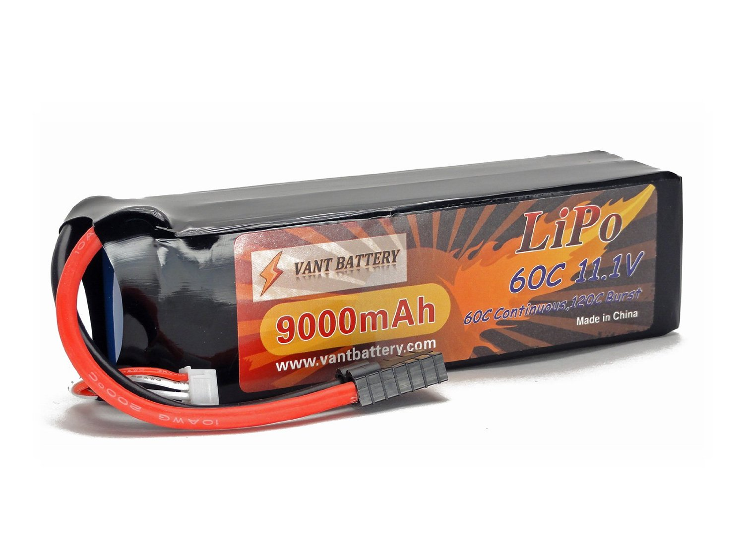 11.1V 9000mAh 3S Cell 60C-120C LiPo Battery Pack w/Traxxas High Current Style Connector (Fits X-Maxx, Slash 4x4 & 2WD, XO-1, Rally)