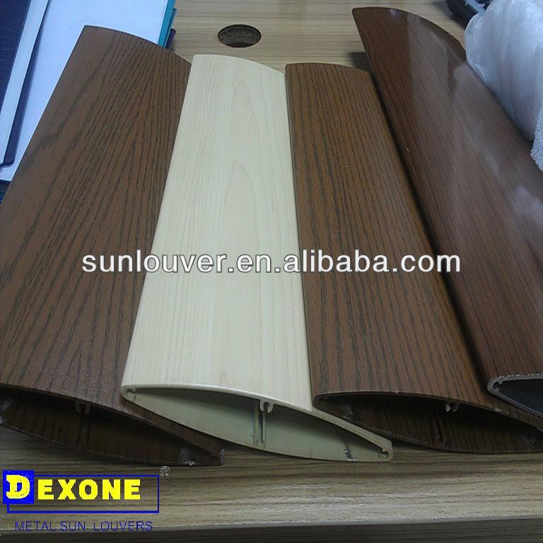 Wooden Color Architectural Aerofoil Aluminum Sun Louver For Facace ...