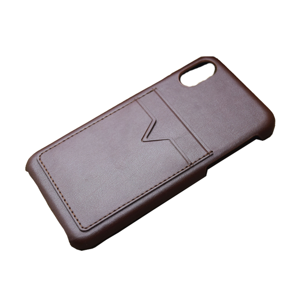 For iPhone 8 Phone Case Real Leather Wallet Credit Card Slot Mobile Phone Case