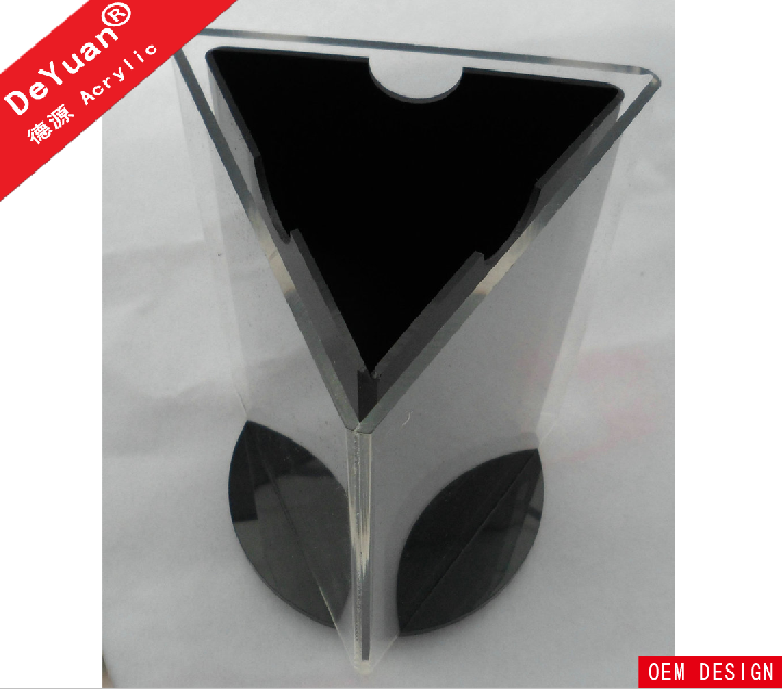 3 Sides Rotate Acrylic Table Stand Menu Holder
