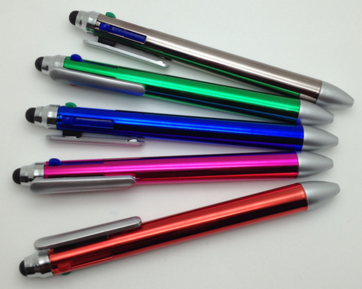 Multi Color Pen 4 Colors Ballpoint Pen for Touch Screen Devices