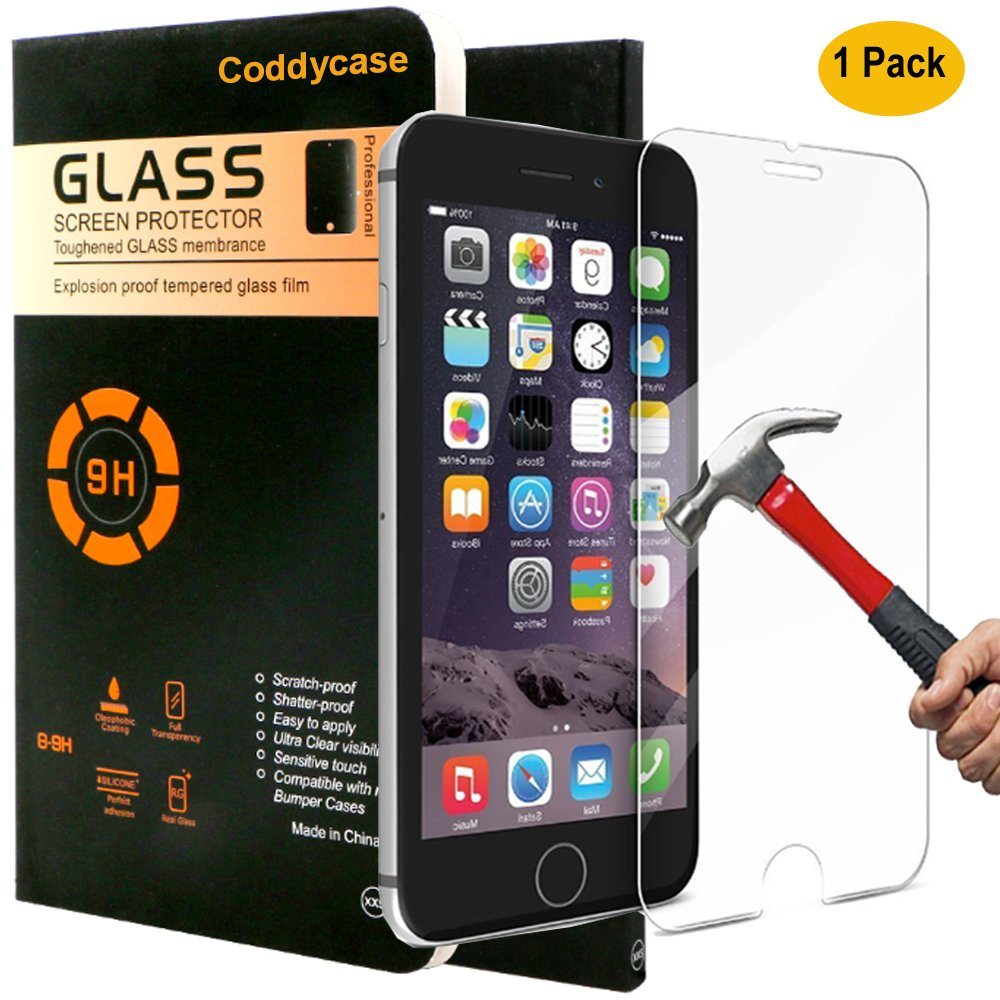 iPhone 7 Plus Tempered Glass,iPhone 7 Plus Screen Protector,Coddycase Tempered Glass Screen Protector Cover for iPhone 7 Plus,1 Pack