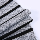 Factory china ladies fabric textile stripe sweatshirt fleece fabric for sport wear