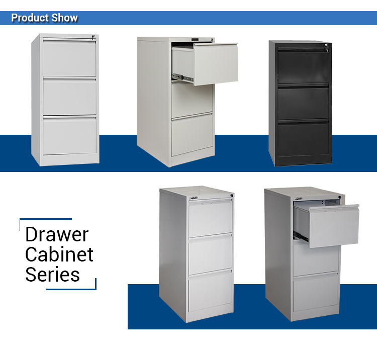 Metal 3 Drawers Storage Tool Cabinet