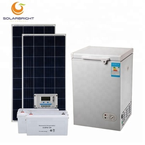 Solar energy dc 108L chest freezer caravan medical home 12v 24volt car mini small portable camping fridge 12 volt freezer