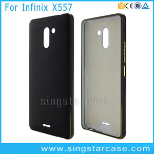 Hot Selling For Infinix X557 Case, Metal Bumper+PC Hard Cover Case For  Infinix Hot 4 X557