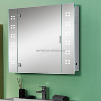 OEM Any Shape Bathroom Led Medicine Mirror Cabinet With Light