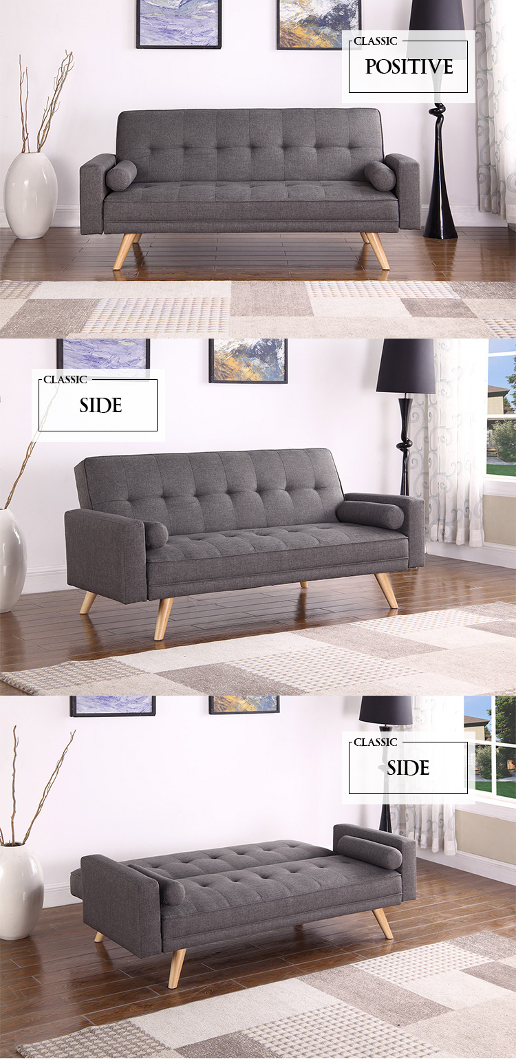 Home living room furniture sofa one piece fabric upholstery sleeping sofa bed