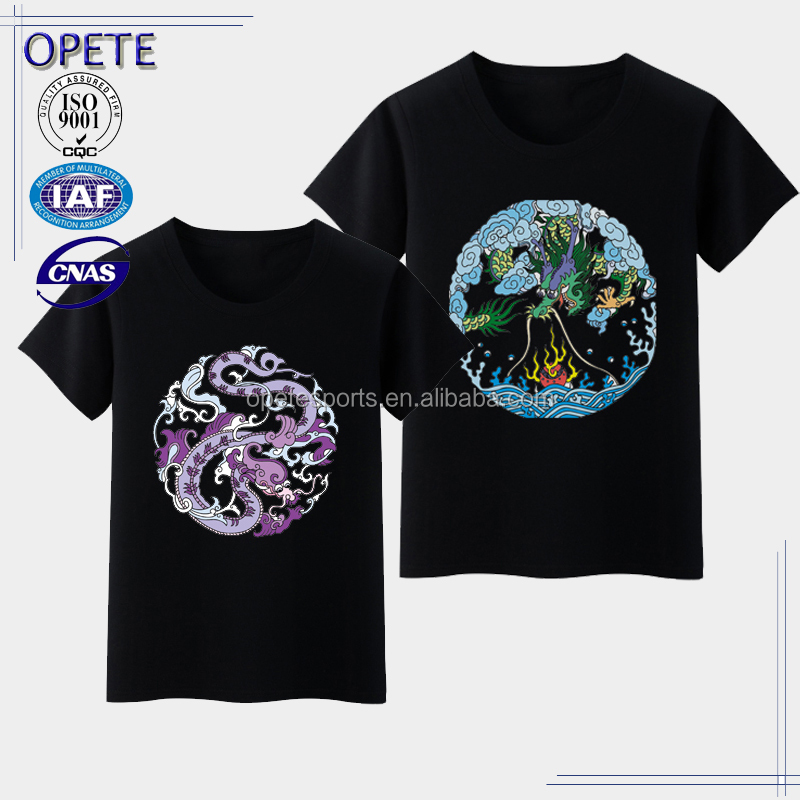(OEM FACTORY)Custom printing 100% Cotton o neck t shirts printed men t shirt wholesale
