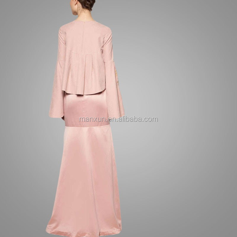 Islamic Style Golden Embroidery Elegant Mermaid Dress
