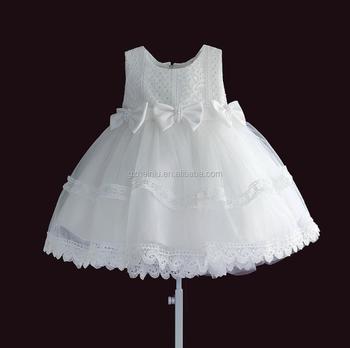 d2312d2326a7743 Белый платье для крещения новорожденных 1 годик девочке платья Красивая  Детская одежда