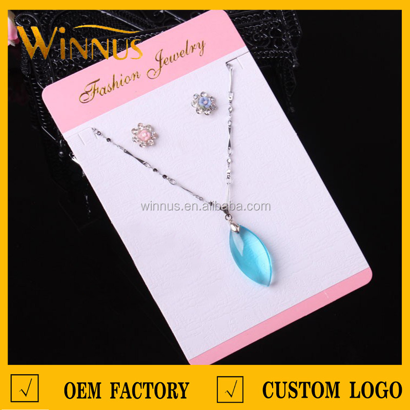 cheap price custom logo jewelry necklace earring display hanging earring tag
