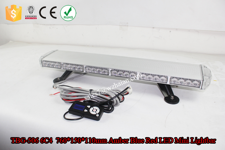 White Alloy Aluminum LED Police Mini Lightbar/Car Strobe Signal Fire Truck Lights/Ambulance Bluce LED Lights TBG-506 6C4