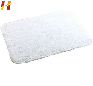 100% Pure cotton customized long square bath mat