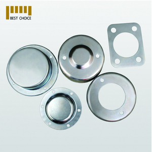 Cut circle pressed aluminium sheet metal part