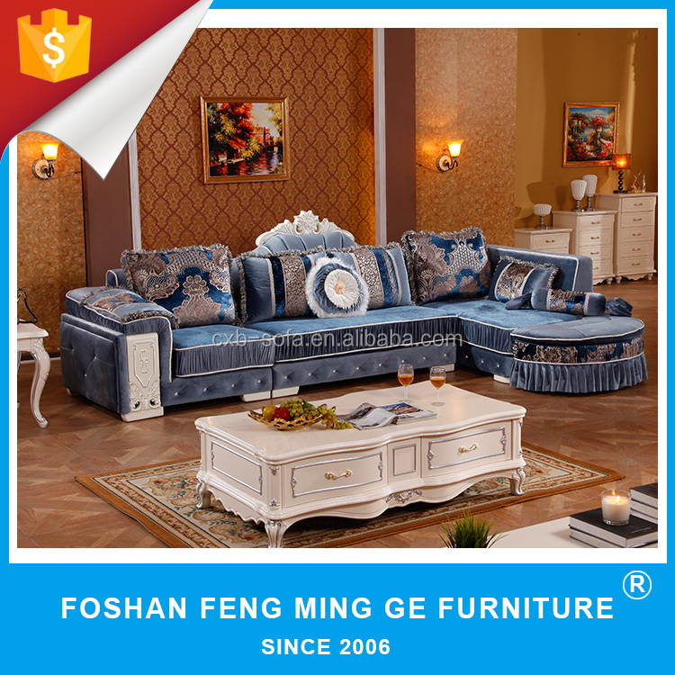 European chesterfield style modern fabric sofa for home furniture L732