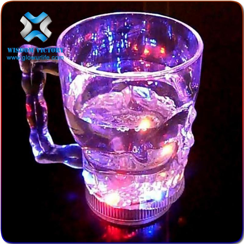 Hot sales halloween led cup New product of halloween favors plastic skull mug water cup 600ml LP1310