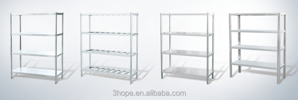 Stainless Steel Commercial Kitchen Storage Plate Rack Shelf
