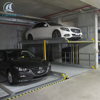 In ground double car parking lift with CE