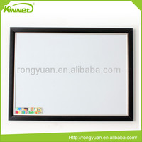 Dry erase surface wall mounted wooden framed magnetic whiteboard