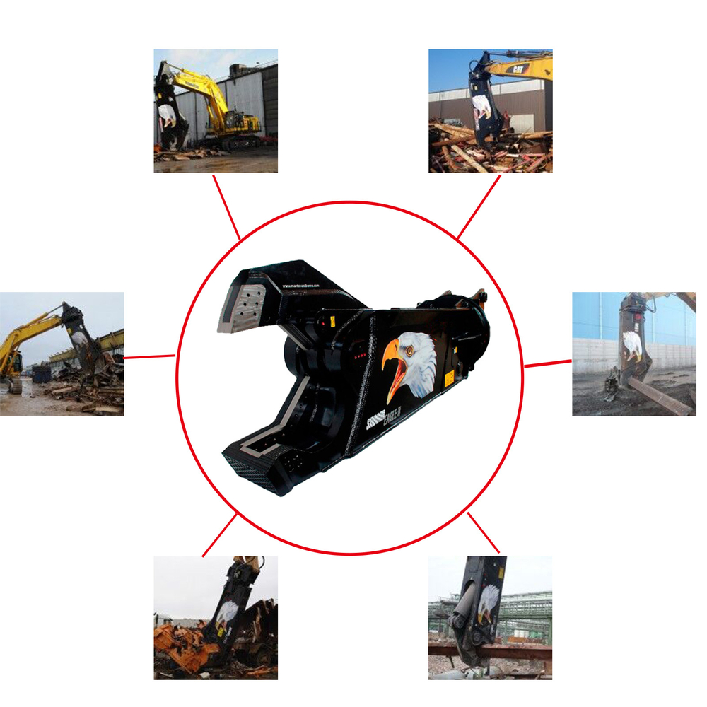 Excavator hydraulic demolition shear for cutting concrete for Demolition wood for sale