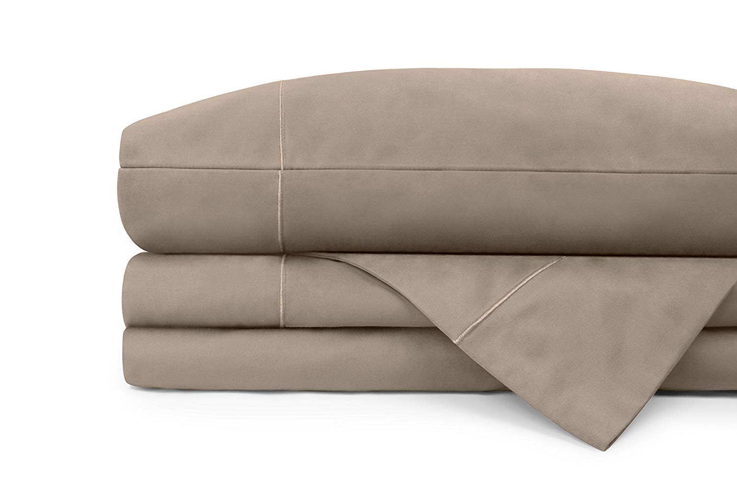 """600 Thread Count 100% Cotton Sheets, 4 Piece Set, Bark Queen Sheets, Fits 18"""" Deep Pockets, Wonderful Sateen Weave, Luxurious Sateen Cotton Sheets and Pillowcases by Upper Club"""