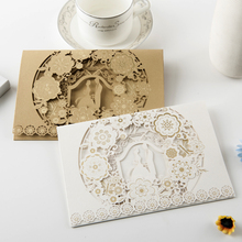 luxury invitation design laser cut greeting cards wedding