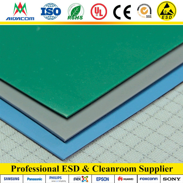 ESD Easy Cleaning Rubber Mat, ESD Bench Mat and flooring mat